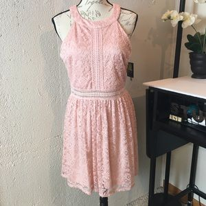 By&By Floral Lace Sleeveless Mini Dress Jr. Sz 13